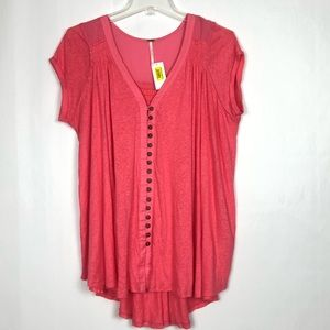 NWT FREE PEOPLE HIGHLAND TEE T-SHIRT OVERSIZED